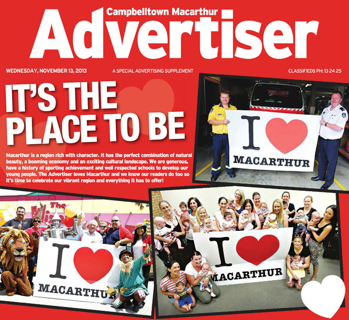 Macarthur Advertiser 13-11-2013front